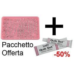 PROMOZIONE SCONTO 50% Ciglia finte con brillantino + colla - VARI - 6414