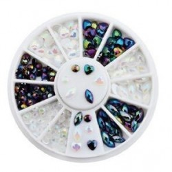 ROULETTE BLACK&WHITE MIX AB - STRASS - 7656