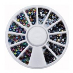 ROULETTE BLACK MIX AB - STRASS - 7657