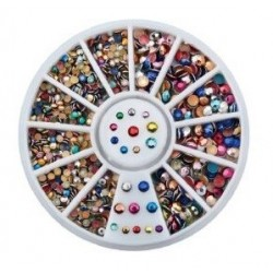 ROULETTE METALLIC COLORED - STRASS - 7658