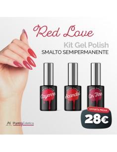 Kit color Gel Polish Red Love