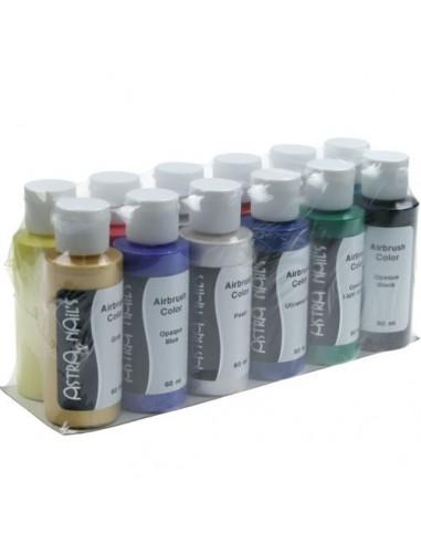 Airbrush Color Set 12 Pz - AIR BRUSH - 5251