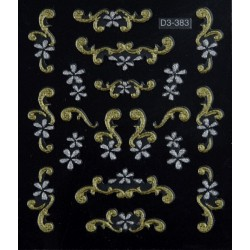 Gold & Silver Stickers 3DS.383 - STICKERS - 6210