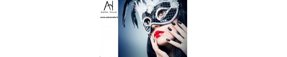 Carnevale - Astra Nails nail art con le unghie non si scherza !  Il tuo carnevale sarà pieno di colori e le unghie saranno de